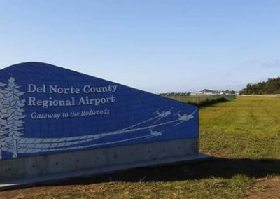 Del Norte County Regional Airport Sign