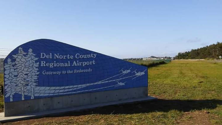 Klinefelter Contracting project for Del Norte County Regional Airport Sign